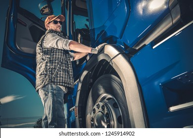 Trucker and the Modern Truck Transportation Industry Theme.