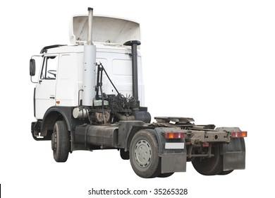 trucker under the white background