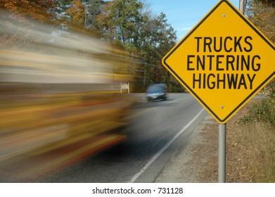 Trucks Entering