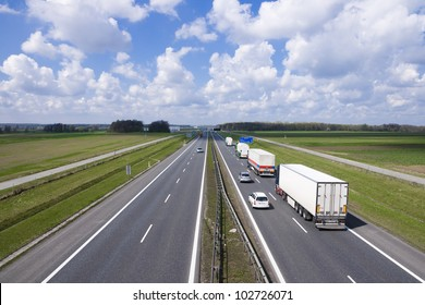 Trucks on the highway A4