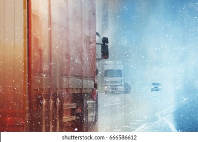 Trucks road logistic sky traffic