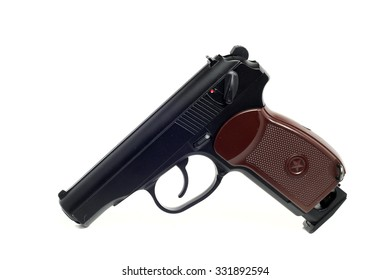 a true copy of dusty air gun on a white background