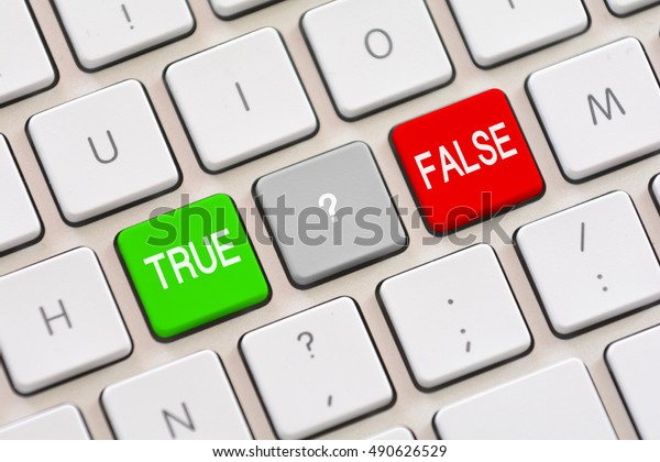 True or False choice on keyboard