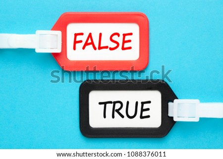 True or false written