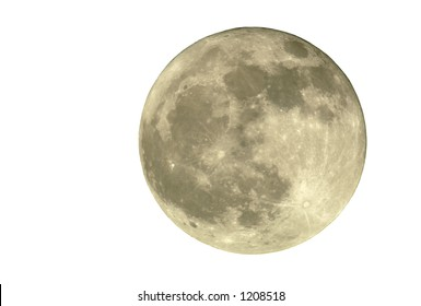 True full April moon (Michigan, USA), isolated for your use. 800mm lens with 2x TC and 1.5x 12MP camera sensor. 2400mm view (35mm equivalent).