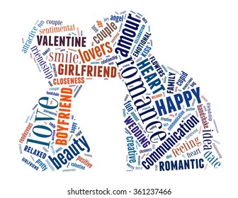 True love, word cloud concept on white background.