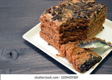 Chocolate Oat Cake Nuts Selective Focus Stock Photo Edit Now