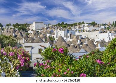 Trulli village in Alberobello city, Apulia, Italy.