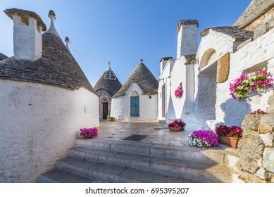 Trullo Siamese, Alberobello city, Apulia, Italy.