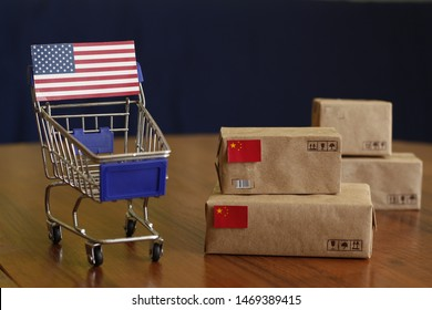 Trump escalates trade war with more China tariffs. Escalation of the trade war between the world's largest economies. More American tariffs on Chinese imports. US-China trade