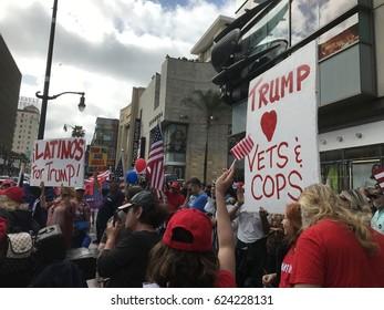 Trump Rally - Hollywood Los Angeles 25th March 2017