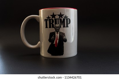 trump thumbs up make america great again cup in studio light trump campaign coffee cup