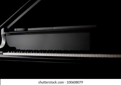 Trumpet on black background