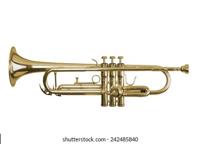 trumpet on white background