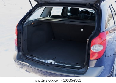 the trunk of a car. open trunk of universal car