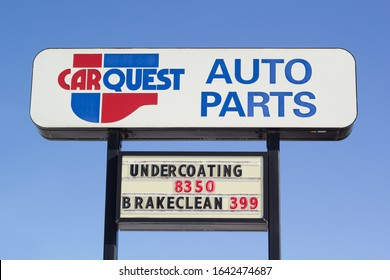 Truro, Canada - February 09, 2020: Carquest Auto Parts outlet sign. Carquest Corporation is an American automotive parts company owned by Advance Auto Parts.