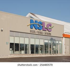 TRURO, CANADA - FEBRUARY 27, 2015: The Nova Scotia Liquor Corporation or NSLC provides alcoholic beverages in Nova Scotia, Canada.