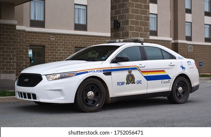 Truro, Canada - May 27, 2020: Royal Canadian Mounted Police or RCMP cruiser. The RCMP is Canada's federal and national police agency.