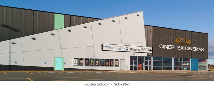 TRURO, CANADA - NOVEMBER 24, 2017: Cineplex Odeon Corporation is one of the largest movie theatre operators in North America which include theaters in Canada and the United States.
