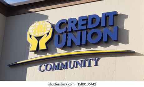 Truro, Canada - November 27, 2019: Community Credit Union Sign. The Community Credit Union of Cumberland Colchester is a financial institution in Nova Scotia.