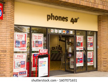 TRURO, CORNWALL/ENGLAND - SEPTEMBER 04, 2012: Phones 4U shop with special offers, Truro high street, England