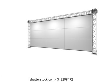 Truss stage isolated on white A