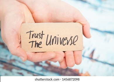 Trust the universe, law of attraction concept  - Shutterstock ID 1456872098