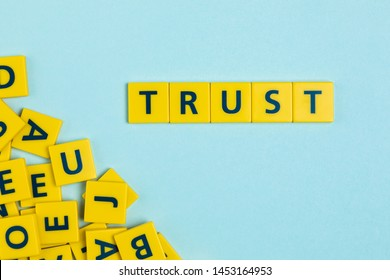 Trust word on scrabble tiles