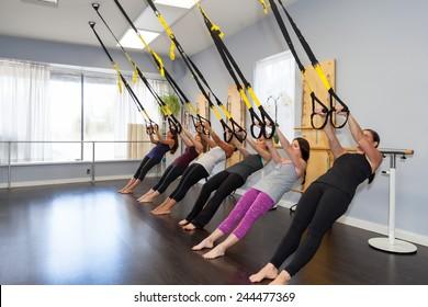 TRX suspension training group class