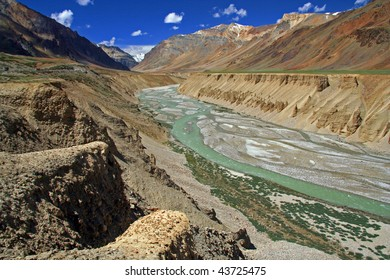 Tsarap Chu River in Ladakh India