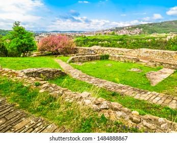 Tsarevets Fortress in the medieval capital of the Second Bulgarian Kingdom, Veliko Tarnovo, Bulgaria