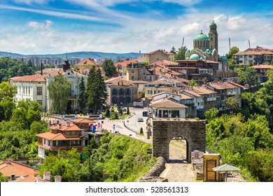 Tsarevets Fortress in Veliko Tarnovo in a beautiful summer day, Bulgaria
