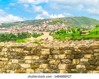 Tsarevets Hill, ruins of the medieval capital of the Second Bulgarian Kingdom, Veliko Tarnovo, Bulgaria