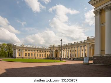 TSARSKOYE SELO, SAINT-PETERSBURG, RUSSIA - MAY 16, 2015: Alexander Palace  in the Alexander Park, Tsarskoye Selo. Russia.