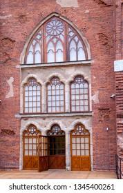 TSARSKOYE SELO, SAINT-PETERSBURG, RUSSIA – OCTOBER 8, 2018: Fragment of The Chapell Pavilion after restoration in Alexander Park in The State Museum Preserve Tsarskoye Selo