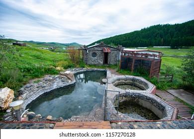 Tsenkher hot springs mongolia