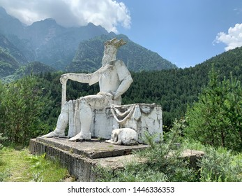 Tsey, Russia, North Ossetia, June, 26, 2019. North Ossetia. The monument to the patron Saint of wild animals of Aphsati in Tsey gorge in summer
