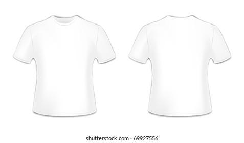 T-shirt front and back illustration
