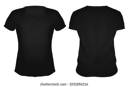 Tshirt mockup template black