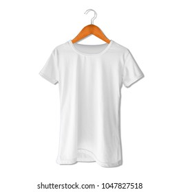t-shirt mockup template with hanger with