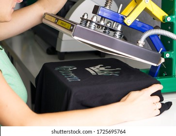 T-shirt is printed with flex foil