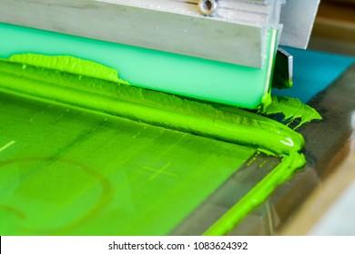T-shirt screen printing