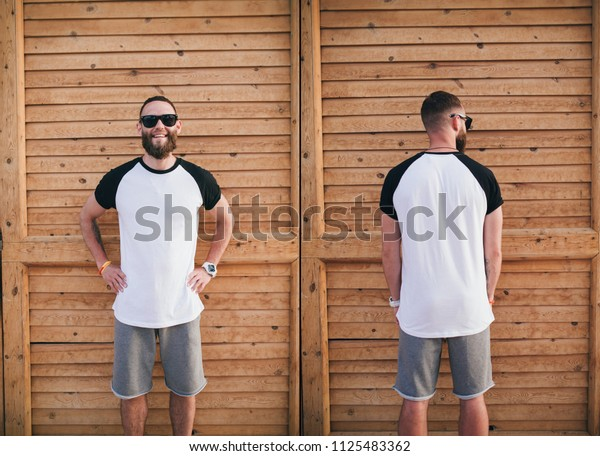 T-shirt template, front and back