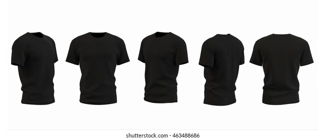 T-shirt template isolated on white, 3D illustration