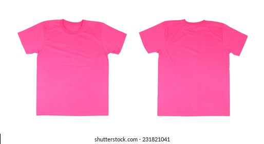 Pink t shirt images stock photos vectors shutterstock for Pink t shirt template
