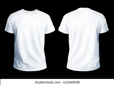 T-shirt template for your design on black background.