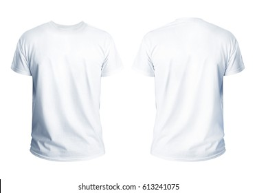 T-shirt template for your design on white background.