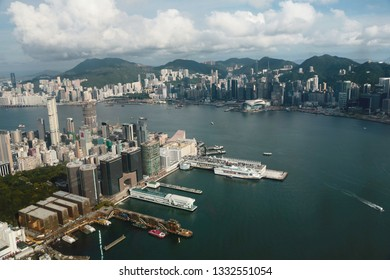 Tsim Sha Tsui view Hong kong isaland at ICC