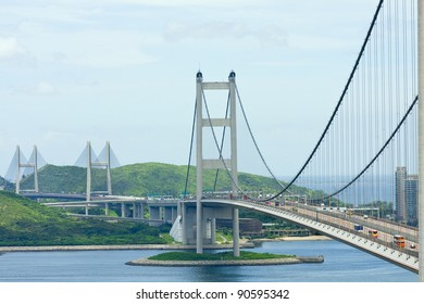 Tsing Ma Bridge, landmark bridge in Hong Kong