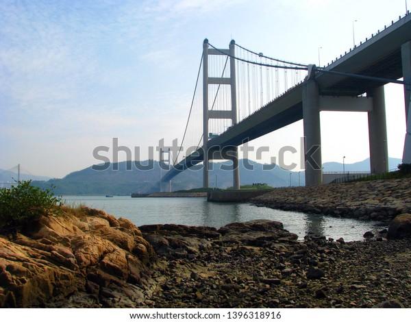 Tsing Ma Bridge Ma Wan Tung Stock Photo (Edit Now) 1396318916